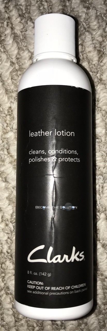 Clarks leather lotion front bottle