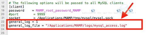 Mamp pro enable mysql general query log