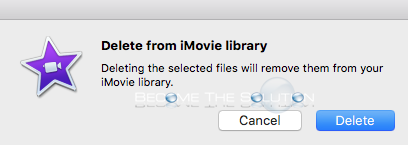 Imovie confirm delete imovie library pop up message