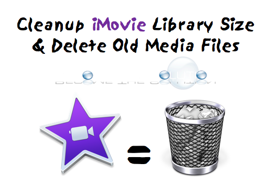 Reduce iMovie Library Size – Mac OS X
