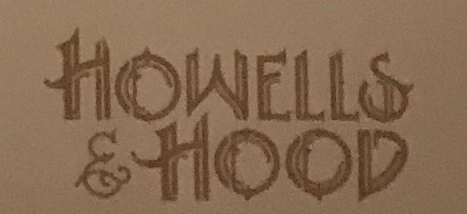 Howells And Hood Menu (Scanned Menu With Prices)