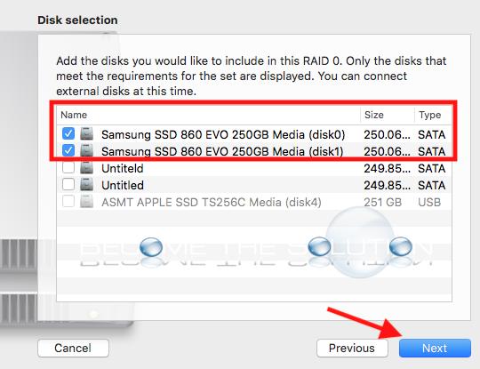 Mac disk utility add raid 0 disks