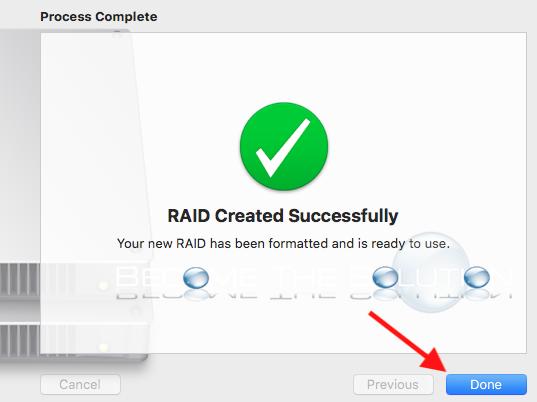 Mac disk utility raid created successfully