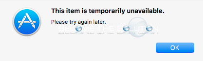 Fix: This Item Is Temporarily Unavailable – Mac OS X Recovery Mode