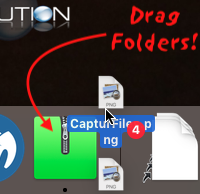 Archive utility drag files folders dock icon zip