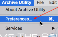 Archive utility mac preferences