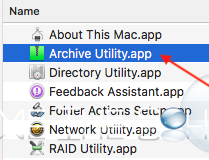 Archive utility app mac os x