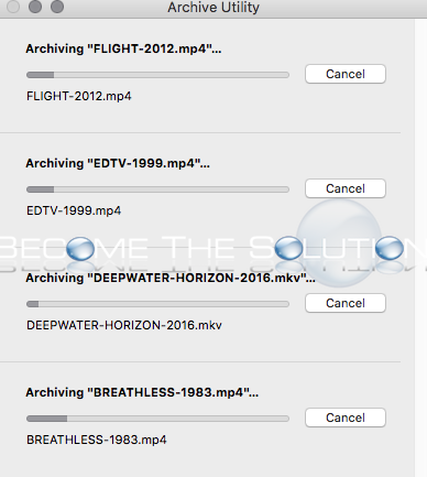 Easy: Zip Multiple Folders Files into Individual Archives - Mac OS X