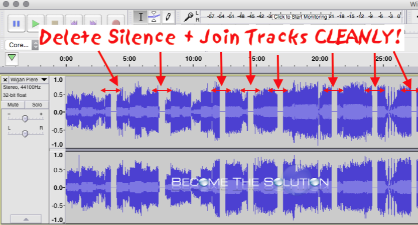 Easy: Audacity Remove Silence Between Tracks