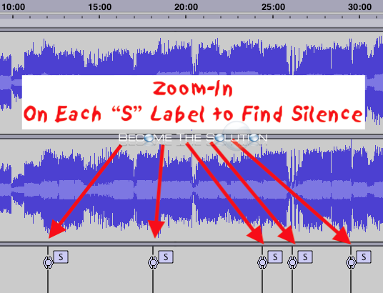 Audacity silence finder labels s