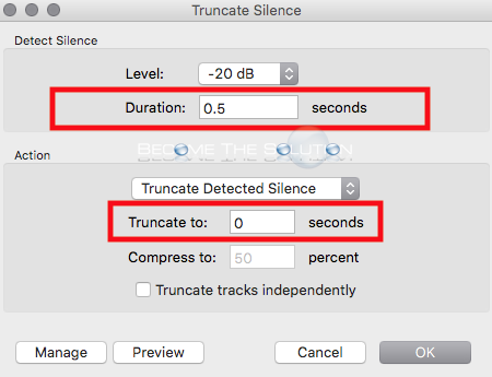 Audacity truncated silence