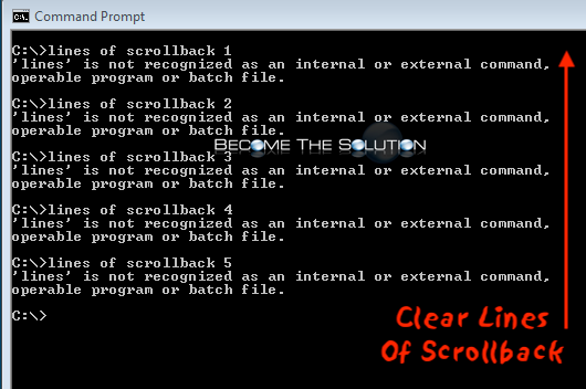 Clear Windows Command Prompt History