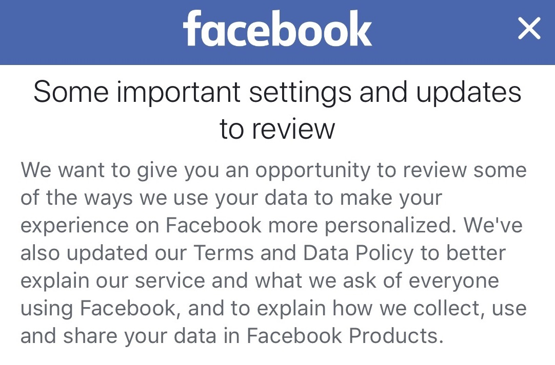 Facebook - Some Important Updates and Settings to Review