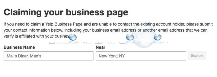Yelp claim already claimed business page