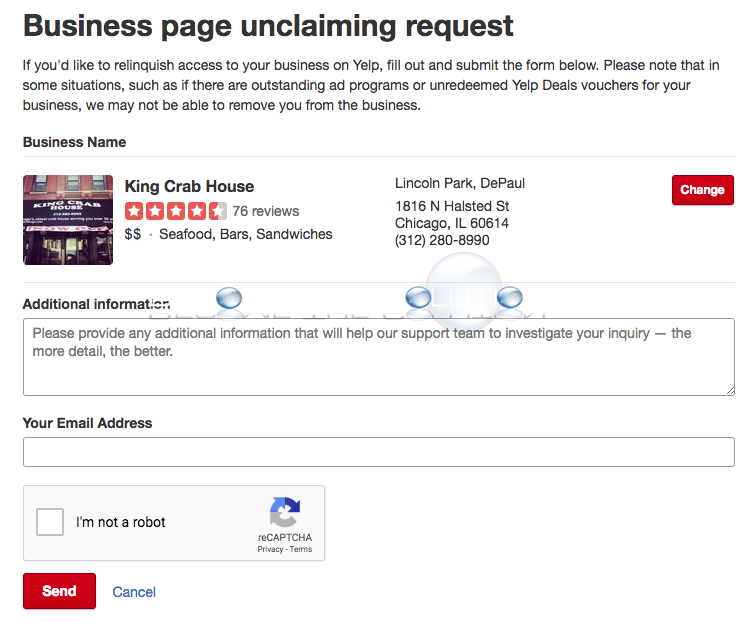 Yelp relinquish access business