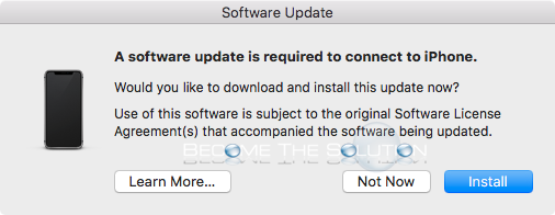 Fix: A Software Update Is Required to Connect to iPhone