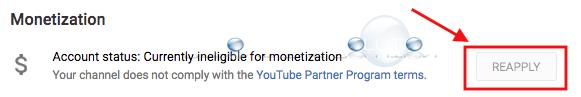 Youtube apply monetization