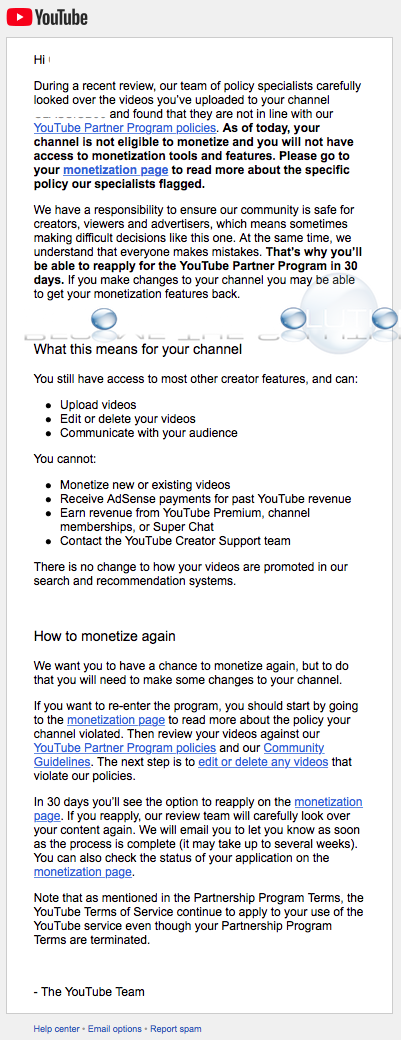 Why: Your Channel Is No Longer Eligible to Monetize. Learn to Reapply - YouTube