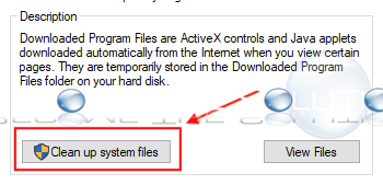 Windows disk cleanup system files