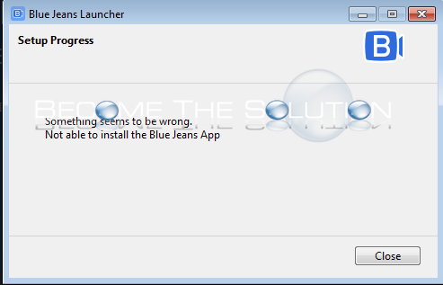 Why: Not Able to Install the Blue Jeans App