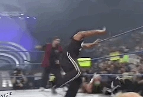 GIF: The Rock Worm Kick