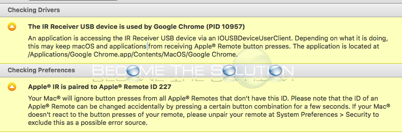 Apple remote mac mini google chrome in use