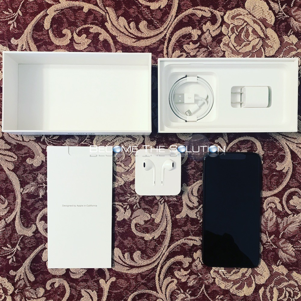 Iphone xs mac 64g mt6f2ll/a space gray unboxing accessories