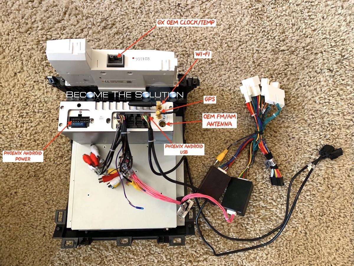 Phoenix android radio lexus gx 470 back connections 1