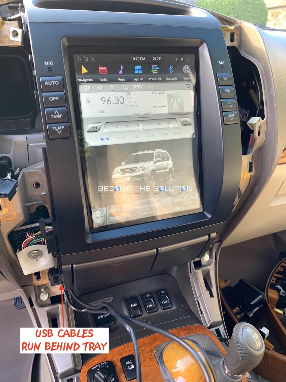 Phoenix android radio lexus gx 470 usb cables