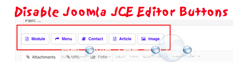 Disable Joomla XTD JCE Editor Buttons (Module, Menu, Contact, Article, Image)