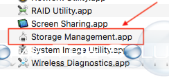 Mac os storage management app core services