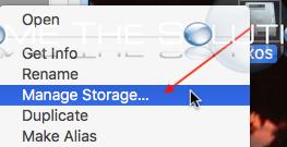 Mac os storage management hard drive