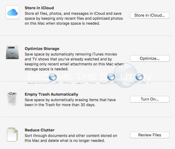 Mac os storage management app mac
