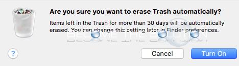 Mac os storage management empty trash automatically