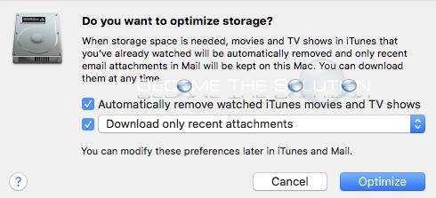 Mac os storage management optimize storage
