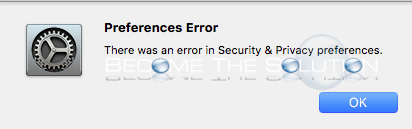 Fix: There Was an Error in Security & Privacy Preferences