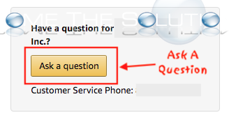 Amazon ask a question button