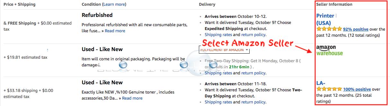 Amazon select seller