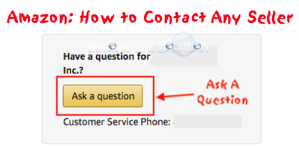 Amazon: How to Contact Any Seller