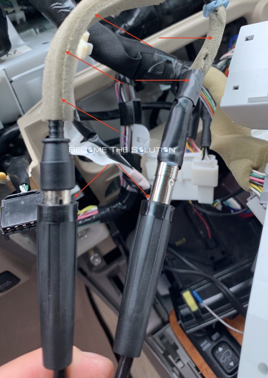Dual femal splitter antenna car stereo am fm