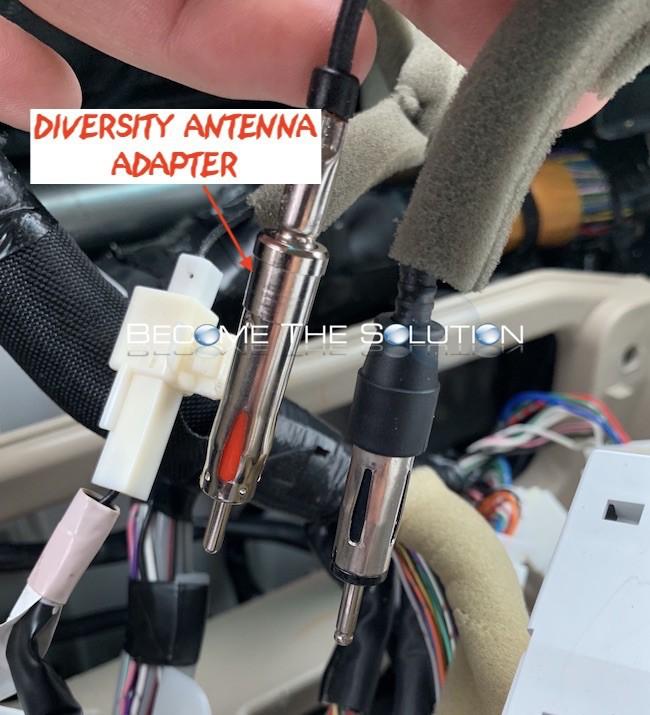 Lexus gx470 diversity fm am antenna main adapter aftermarket stereo