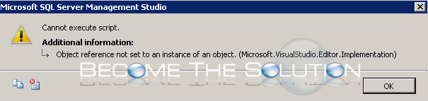 Fix: Object Reference Not Set to An Instance of An Object Microsoft.Visualstudio.Editor.Implementation