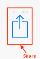 Ios share button icon