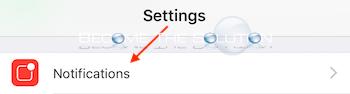 Ios iphone settings notifications