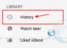 Youtube history screen