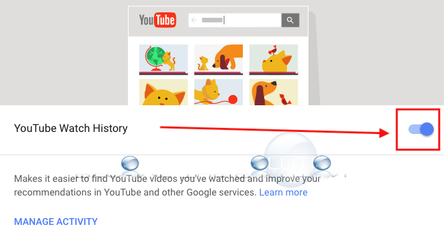 Youtube watch history on off google activity