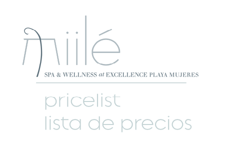 Excellence Resorts Spa at Playa Mujeres Prices (PDF)