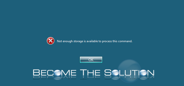 Why: Citrix Not Enough Storage is Available to Process this Command