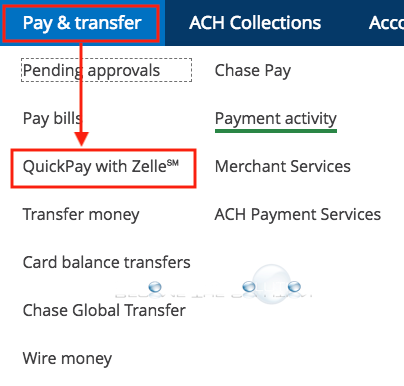 Chase quickpay with zelle settings transfer and pay