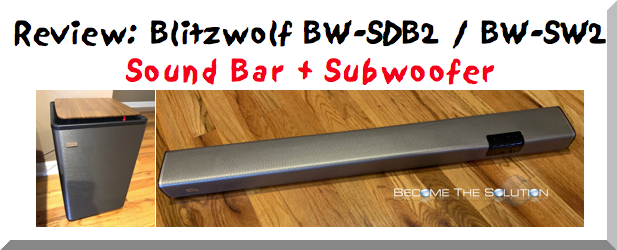 Best Bluetooth Sound Bar with Subwoofer Review (BW-SDB2 / BW-SW2)